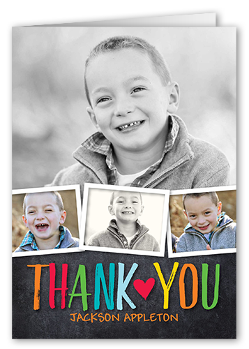 Colorful Statement Thank You Card