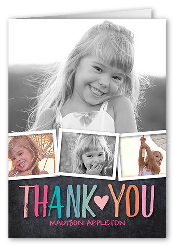 Colorful Statement Girl Thank You Card