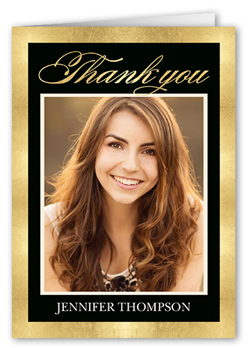 Brilliant Grad Border Thank You Card