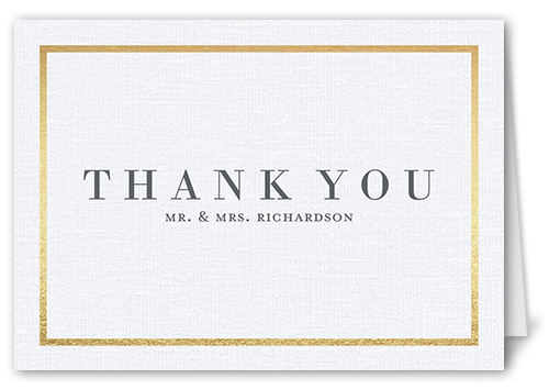 Simple Solid Frame Thank You Card