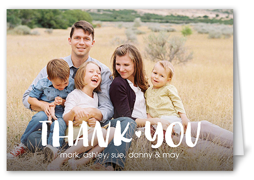 Basic Thanks Thank You Card