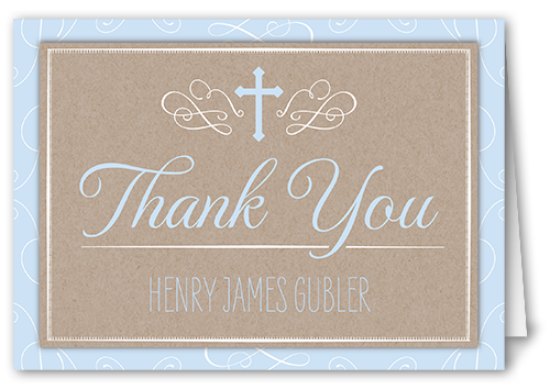 Border Purification Boy Thank You Card