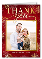 Christmas Thank You Cards Shutterfly