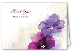 soft bougainvillea thank you card