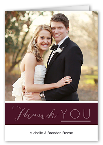 Accent On Love 3x5 Wedding Thank You