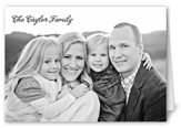 family portrait thank you card 3x5 folded