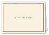 simply elegant thank you card 3x5 folded