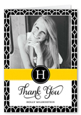 stunning style thank you card 3x5 folded