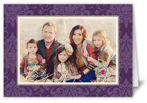 brocade purple 5x7 folded card