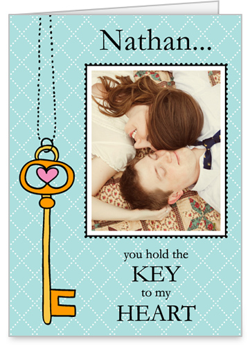 Key Heart 5x7 Folded Card