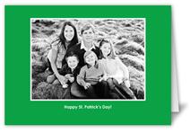 classic green 5x7 folded card