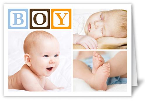 Baby Blocks Boy Birth Announcement