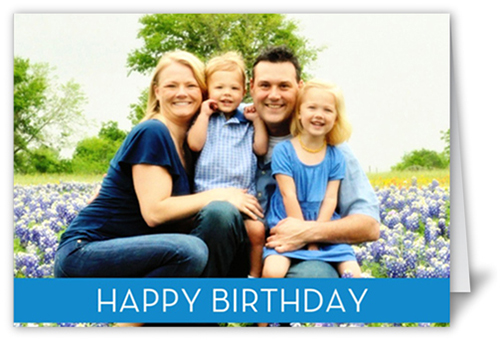 Birthday Banner Blue Greeting Cards