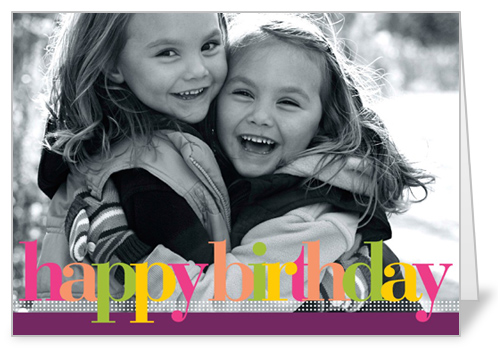 Birthday Colors Plum Birthday Card