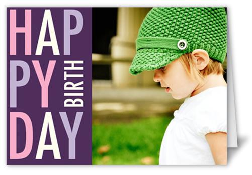 Pretty In Plum Birthday Card
