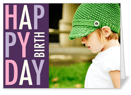 Pretty In Plum Birthday Card by Float Paperie