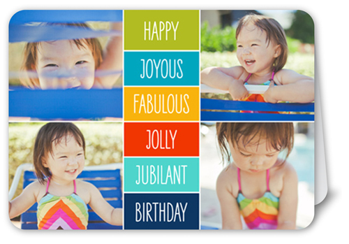 Happy Joyous Fabulous Birthday Card
