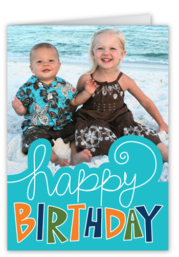 Happy Sign Blue Birthday Cards
