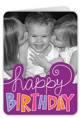 Happy Sign Grape Birthday Card, Rounded Corners