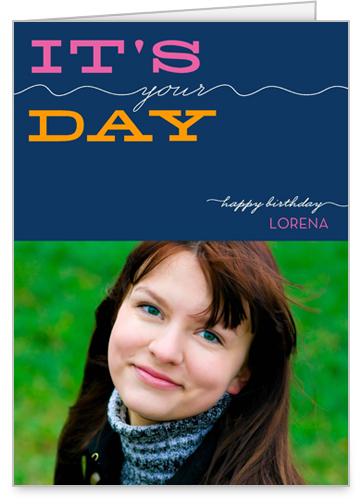 Your Day Navy Birthday Card by Float Paperie