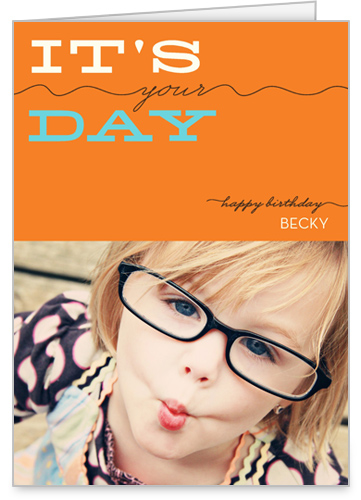 Your Day Tangerine Birthday Card by Float Paperie