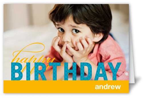 Modern Celebration Boy Birthday Card