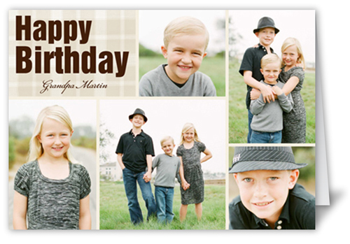 Fond Montage Birthday Card, Square