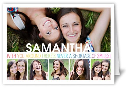 Smile Surplus Birthday Card, Square