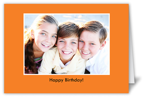 Classic Orange Party Invitation