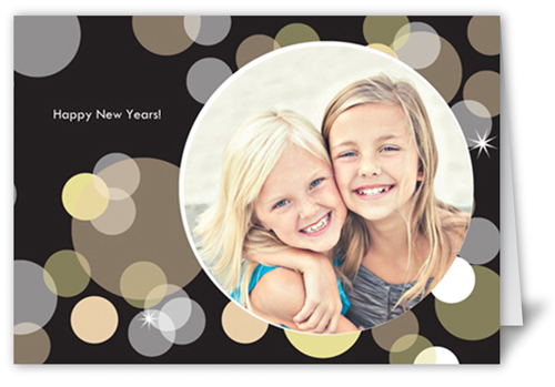 New Year's Bubbles Party Invitation, Square