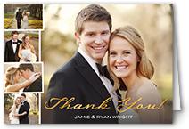 Wedding thank you cards shutterfly gallery of gratitude junglespirit Image collections