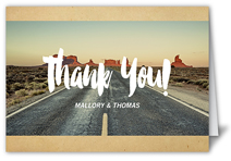 our adventure thank you card