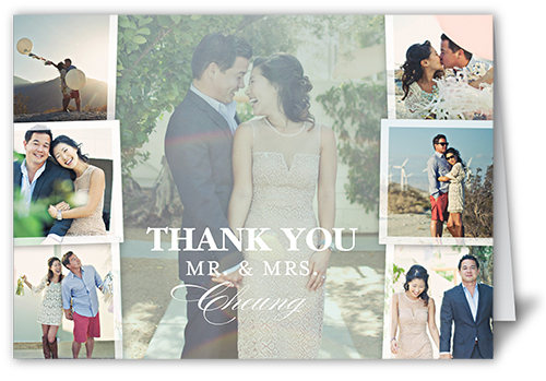 Picture Perfect Couple Thank You Card