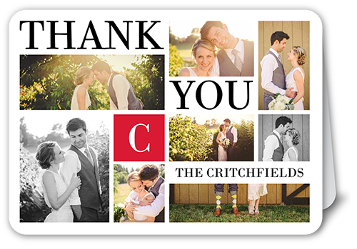 Bold Gallery Thank You Card