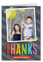 bright bold thanks thank you card
