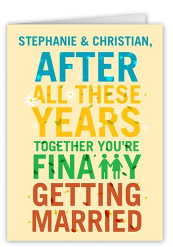 Season Of Love Wedding Card