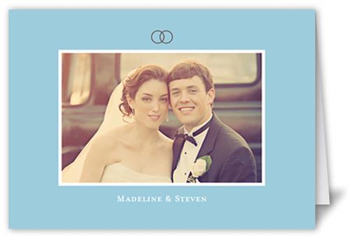 Forever Love Blue Wedding Card