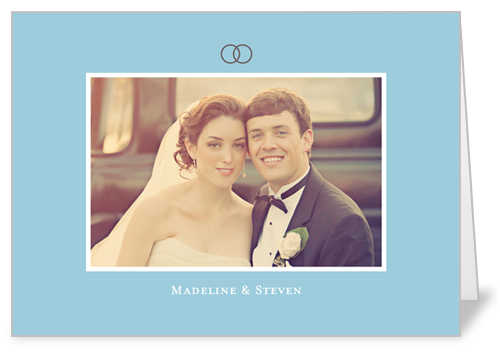 Forever Love Blue Wedding Card