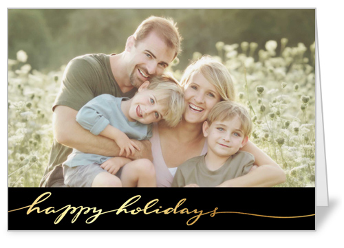 Golden Holiday Holiday Card