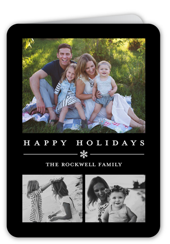 Basic Snowflake Gallery Holiday Card, Rounded Corners