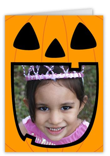 Hungry Pumpkin Halloween Card