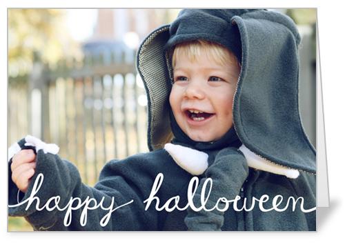 Spooky Script Halloween Card