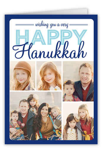 Montage Of Happiness Hanukkah Card, Square Corners