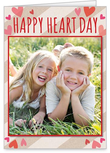 Heart Day Valentine's Card, Square Corners