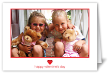 simple heart valentines card