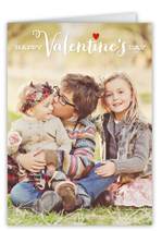 simple hearts valentines card