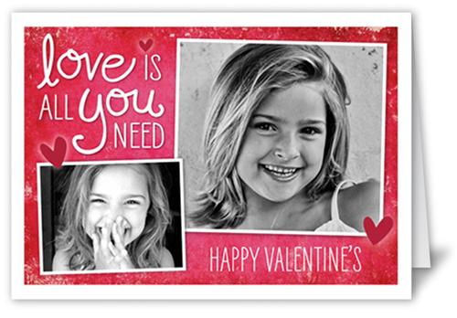 Cherished Love Valentine's Card, Square Corners