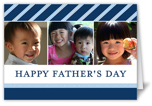 Sophisticated Stripes Father's Day Card