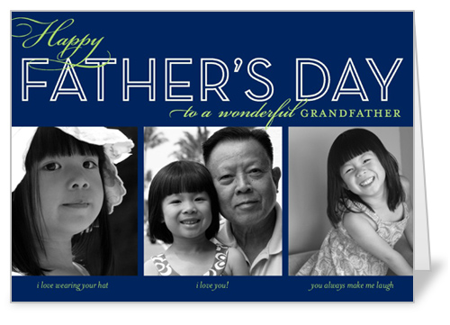 Dad Collage Navy Father's Day Card
