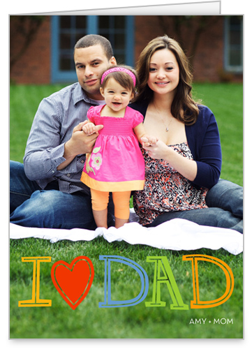 Chalkboard Heart Dad Father's Day Card